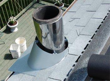 Solin de toit pour cheminée