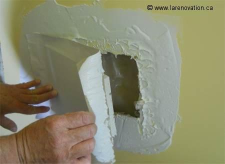 Boucher un trou dans un mur - Comment boucher un trou dans un mur ...
