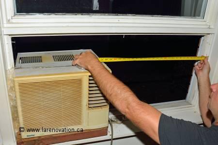 Installer un climatiseur dans une fen tre de maison for Climatiseur fenetre vertical