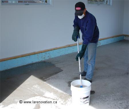 Acide Chlorhydrique Nettoyage nettoyer un plancher de ciment avant de le peindre