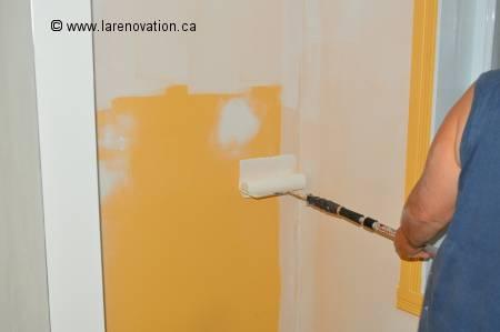 Peindre une pi ce de la maison for Comment peindre un mur au rouleau