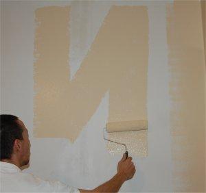 Superior Peindre Un Mur Au Rouleau Par Sections