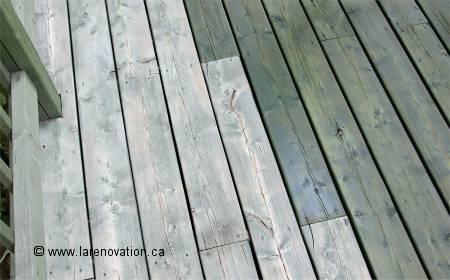 teindre le bois ext rieur d 39 une terrasse d 39 un patio. Black Bedroom Furniture Sets. Home Design Ideas