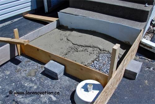 Faire un coffrage en bois pour couler du b ton - Renover escalier beton ...