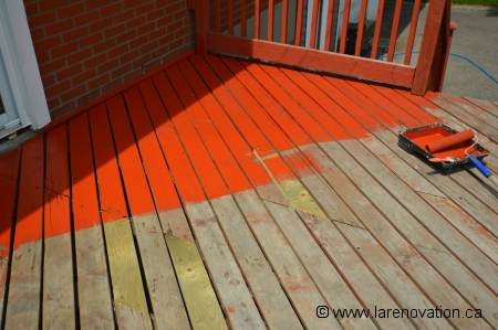 Application d'une protection sur le revêtement du balcon
