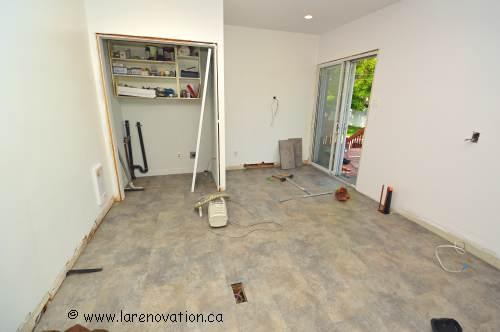 Après la rénovation des murs et plancher de la cuisine