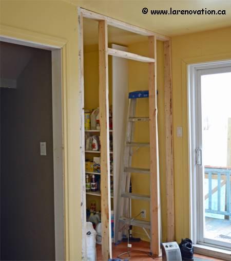 Monter une cloison avec porte amazing porte coulissante - Montage cloison placo avec porte ...