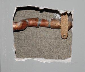 Photo Du Trou à Réparer Dans Le Mur