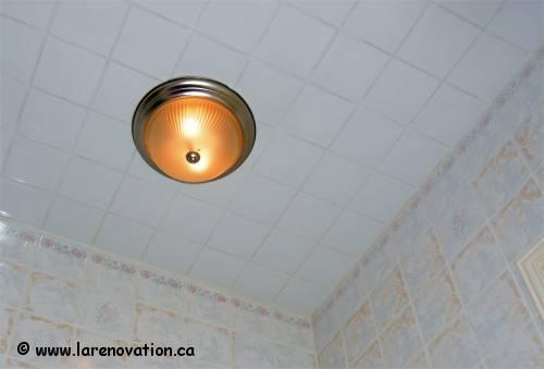 Plafond de salle de bain - Renover plafond salle de bain ...