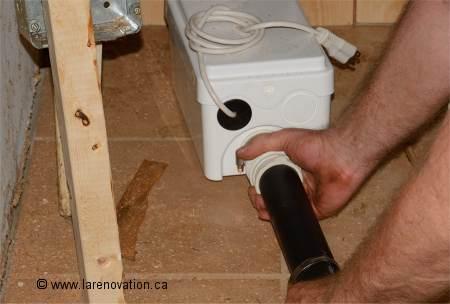 installer une pompe de relevage pour douche. Black Bedroom Furniture Sets. Home Design Ideas