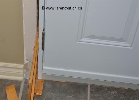 Comment installer une porte d 39 entr e - Fixation porte d entree ...
