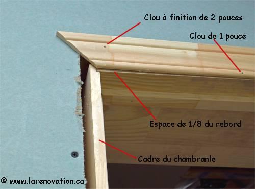 installer le cadrage d 39 une porte pose des moulures. Black Bedroom Furniture Sets. Home Design Ideas