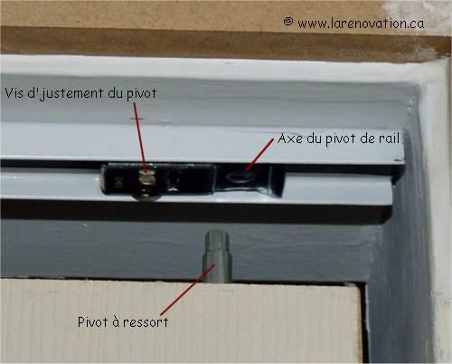 Faire la pose d 39 une porte de placard pliante - Pivot de porte ...