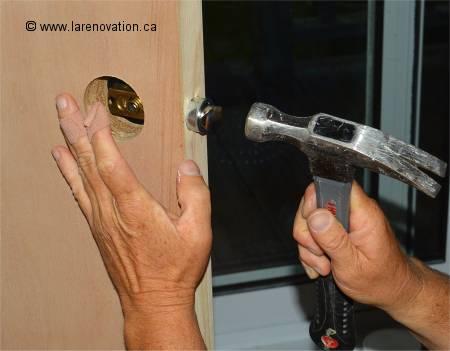comment installer une poignée de porte intérieure - Poignee De Porte Coulissante Interieur